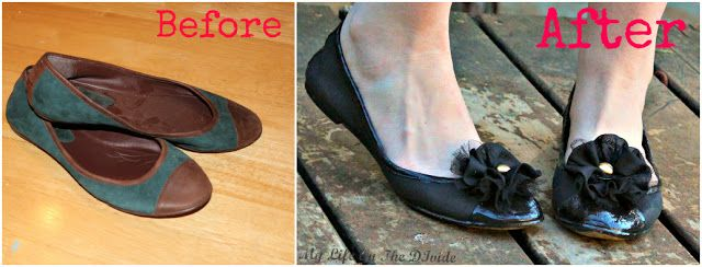 Refashoin suede shoes with paint and easyTutoiral by My Life on the Divide