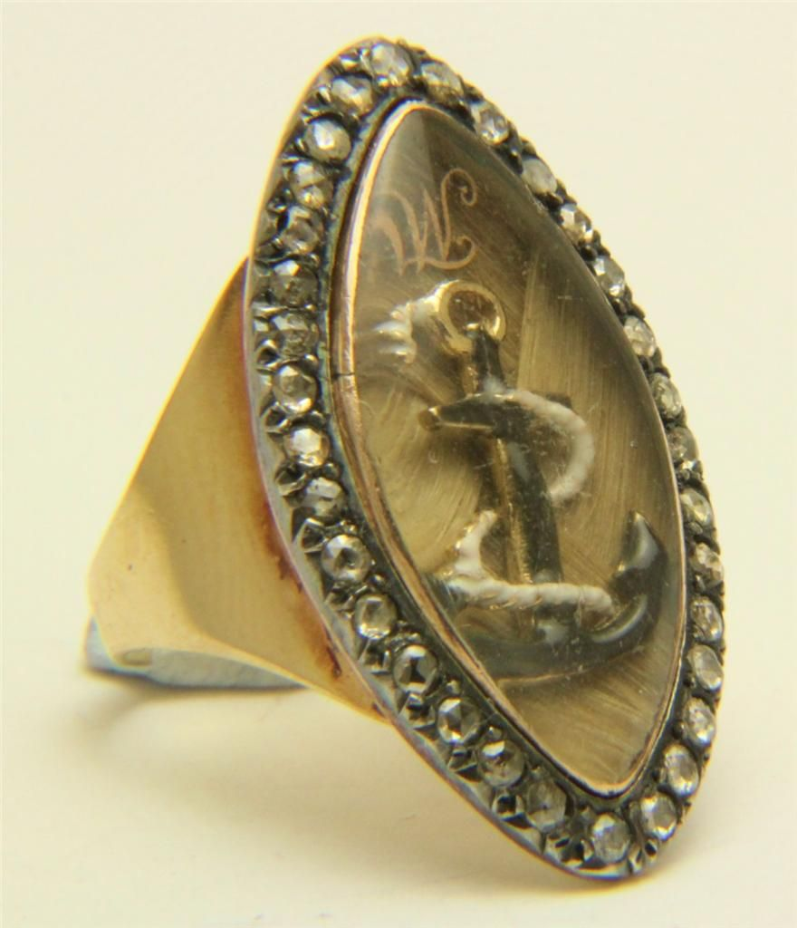 A Stunning Georgian Rose Diamond Admiralty Memorial Ring Circa 1800's, £1,750.00