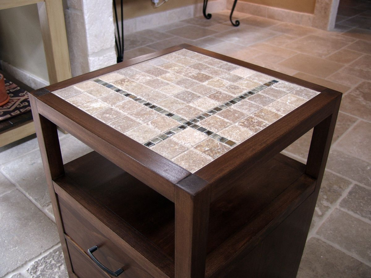 Tile Top Coffee And End Tables