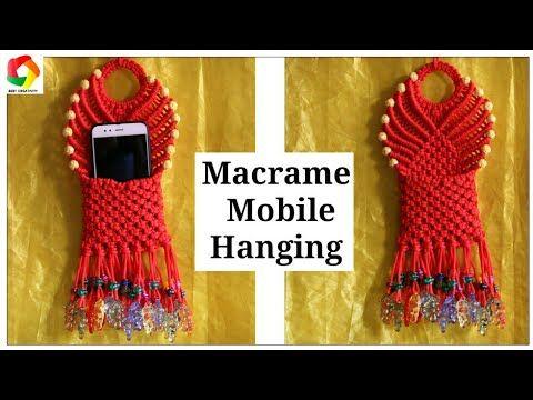 Macrame Mobile Wall Hanging Design #2 - YouTube | Macramè ...