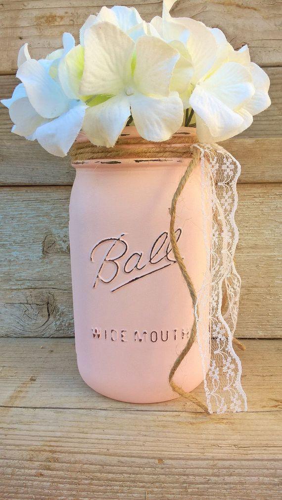 pink mason jar centerpiece mason jar centerpieces pinterest