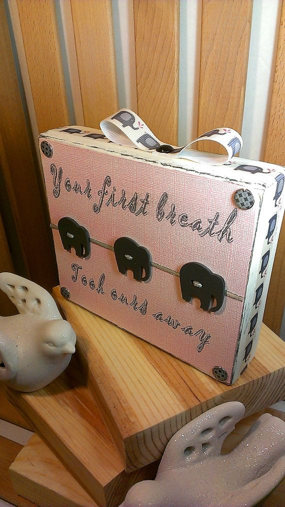 Wood Block Signs Girl Nursery Decor Nursery by SilverHopeDesigns