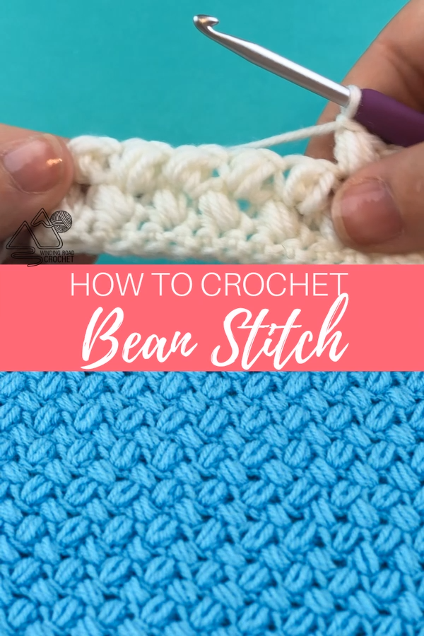 How to Crochet the Bean Stitch Video Tutorial #stitching