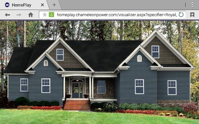 Midnight Surf Vinyl Siding Black Walnut Cedar Shake Linen Trim Windows Vinyl Siding House Siding Colors For Houses House Exterior