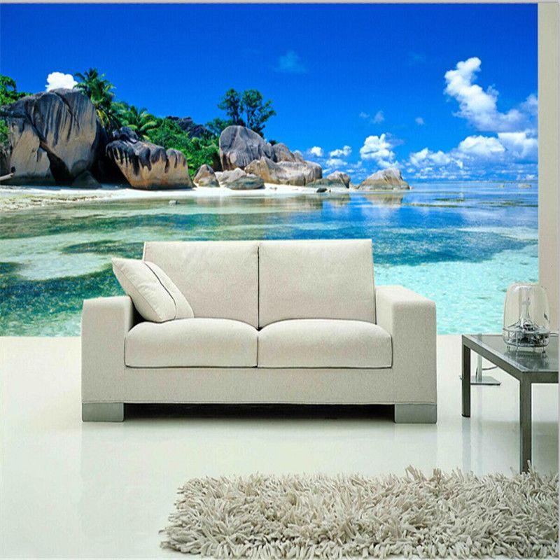 Custom 3D Mural Wallpaper Non Woven Bedroom Livig Room TV Sofa Backdrop  Wall Paper Ocean