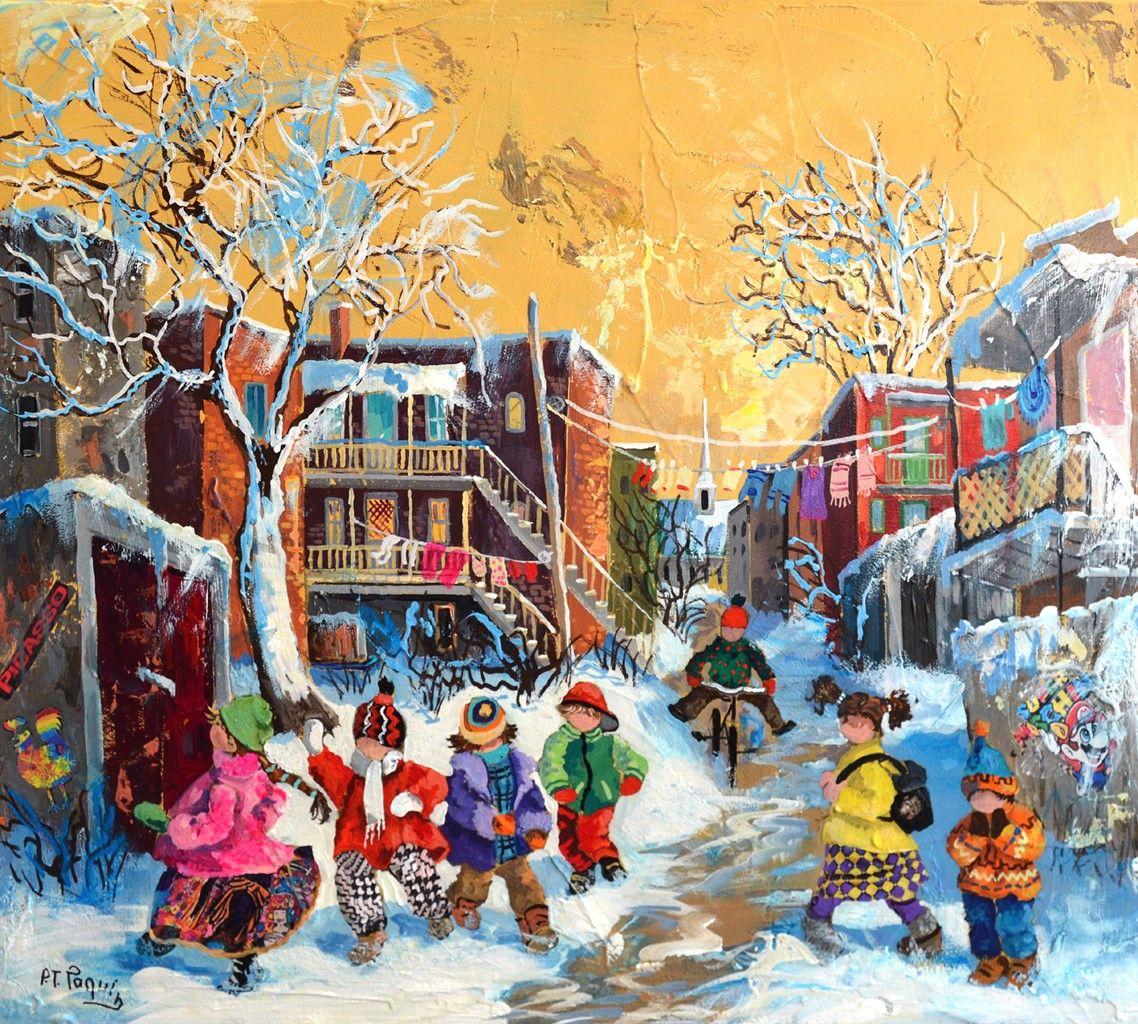 Y A Pas D Ecole Ce Matin Pauline Paquin Quebec Art Fantaisiste