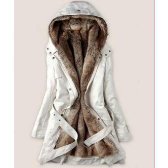 Blanco mujeres de la señora espesan la capa caliente del invierno de la  capilla Parka Abrigo