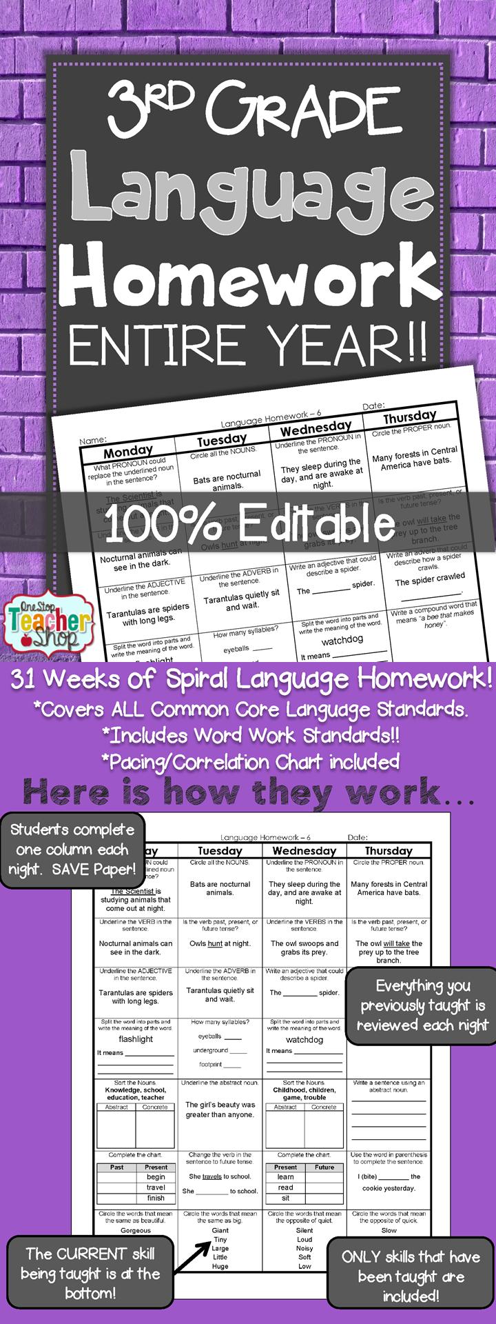 Homework help for third grade