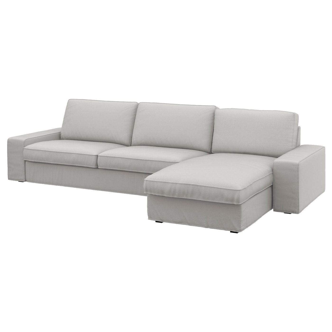 Kivik 4 Seat Sofa Ramna With Chaise Longue Ramna Light Grey In 2020 Ikea Sofa Bed Sofa Bed Uk Ikea Sofa