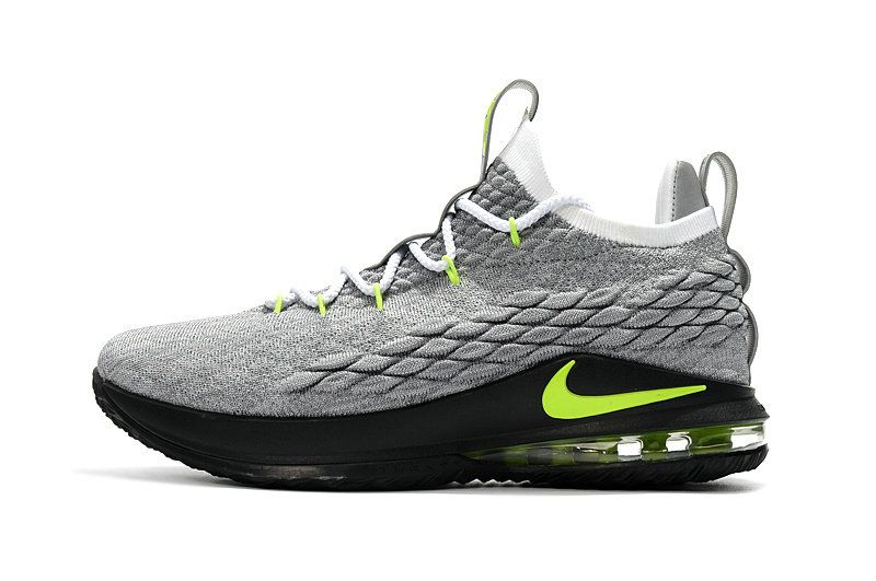 newest d52e7 fd5c3 2018 Genuine Nike LeBron 15 Low Air Max 95 Cool Grey Green ...