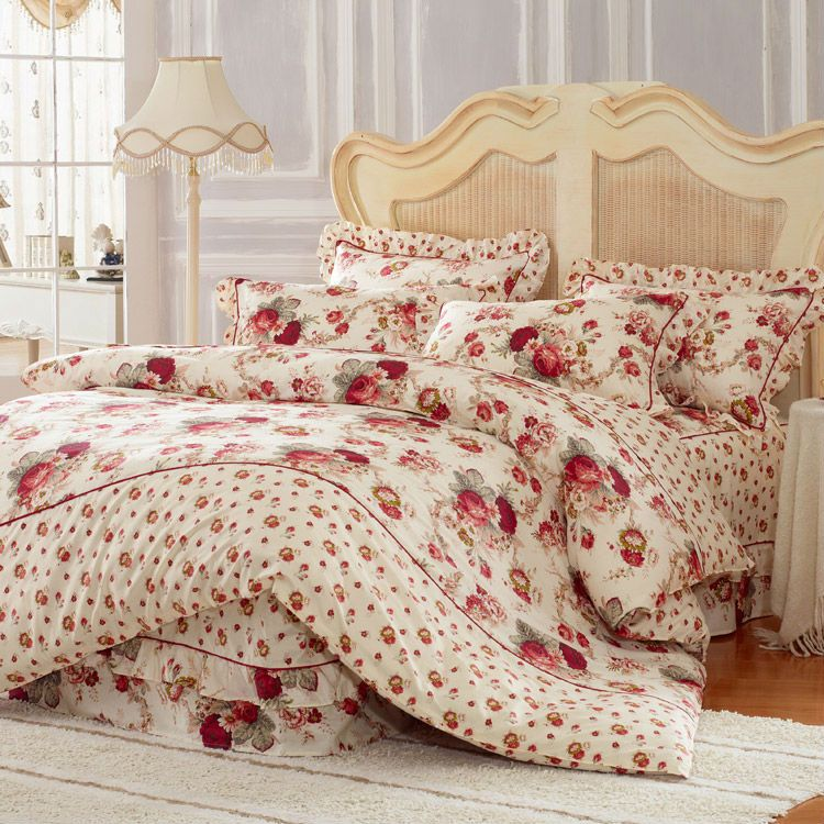 Aliexpress Com Buy 100 Cotton Bedding Sets 4pcs Bed Cover Set With Skirt Duvet Cover Bed Sheet Cover And Bed Cover Sets Sheets Duvet Cover Duvet Cover Sets