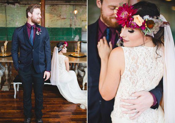Berry Wedding Inspiration Vintage Inspired