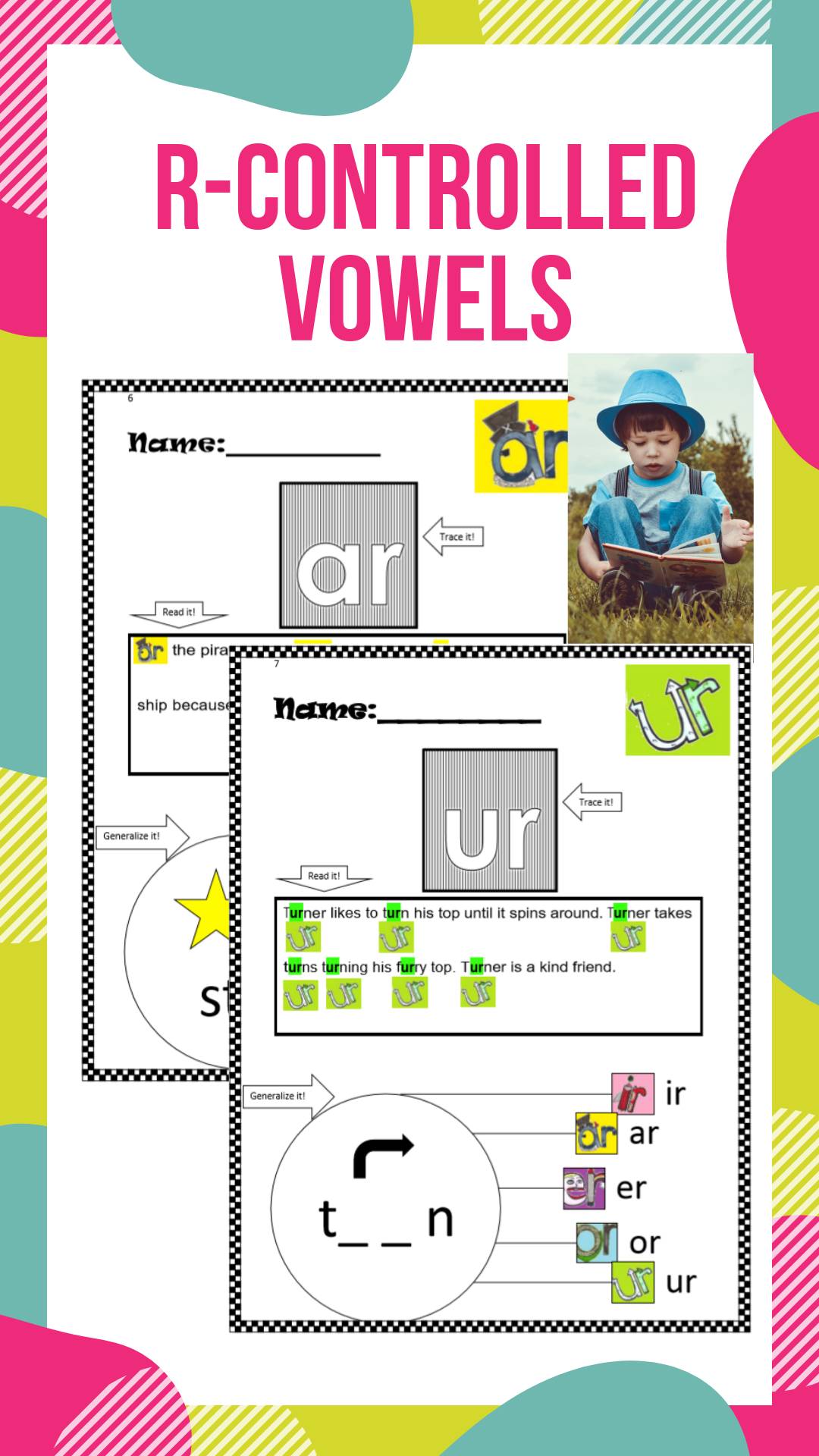 Ready To Use Printables R Controlled Vowels Worksheets Ar