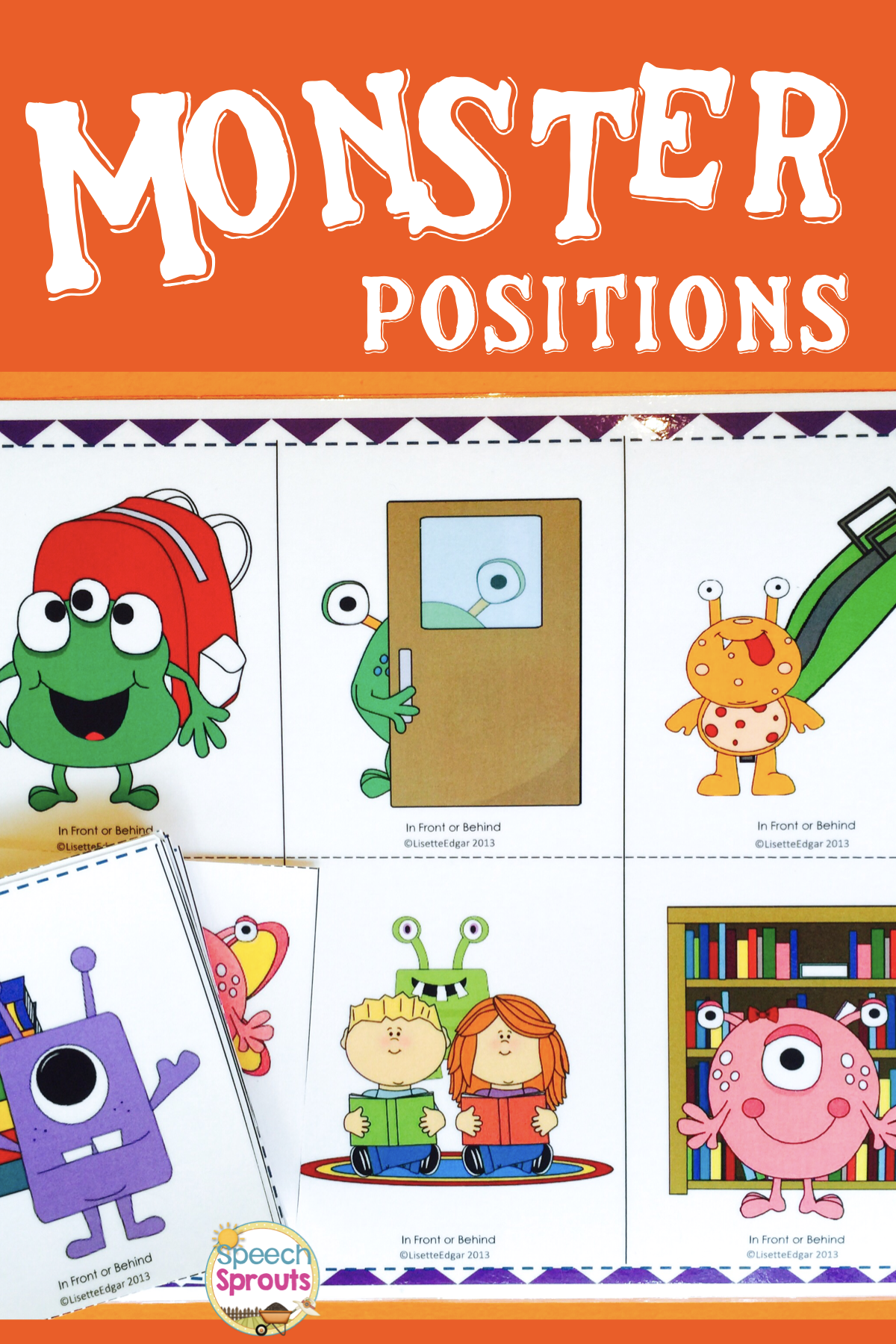 Monsters Munch Speech Therapy Prepositions Game