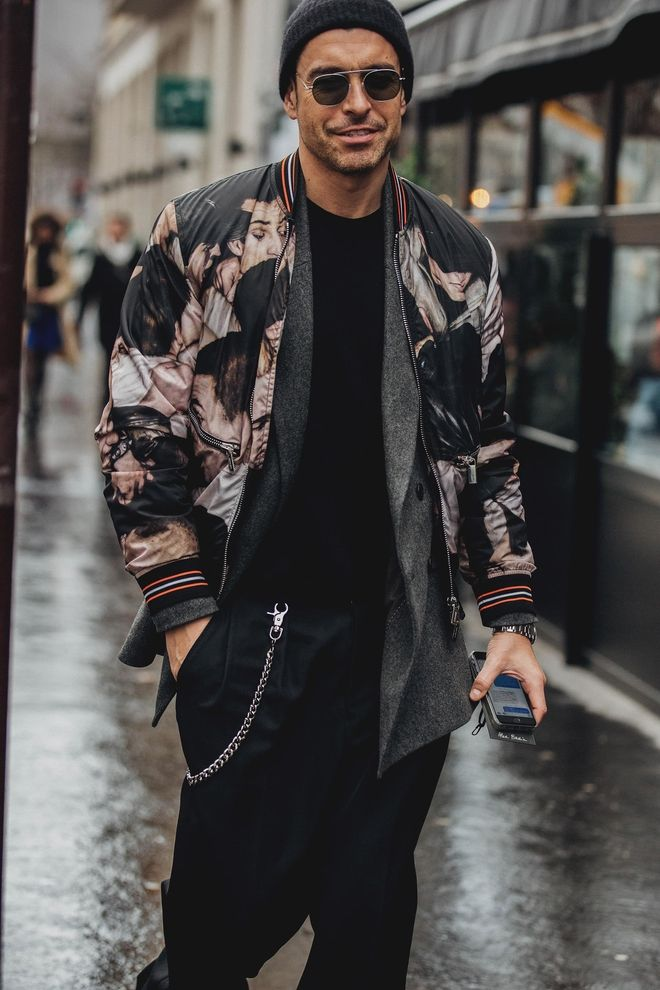 Street style Fashion Week homme automne hiver 2018 2019 Paris 27