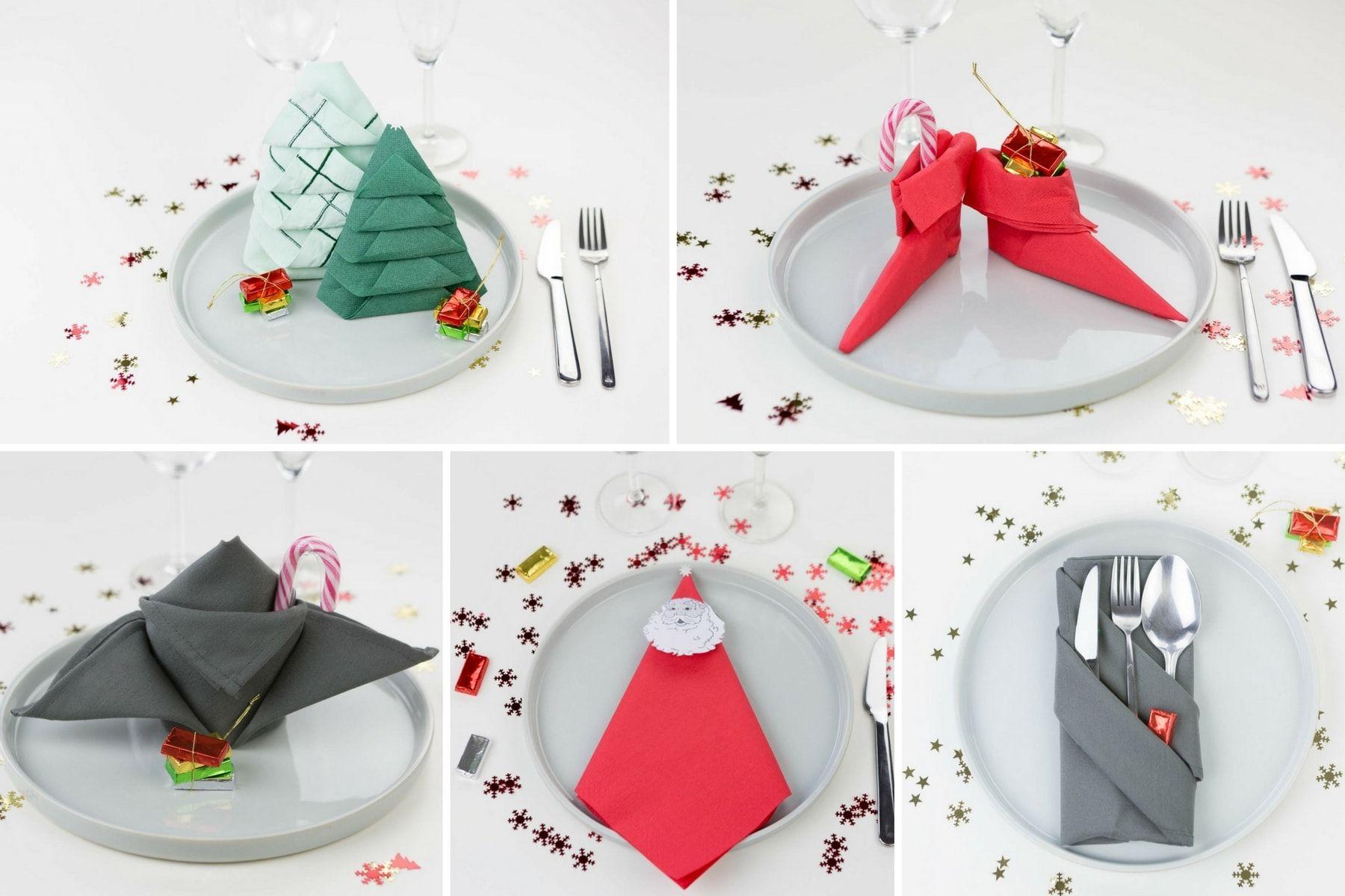 Pliage Serviette Facile Range Couverts 12 pliages de serviettes (faciles) pour votre table de noël