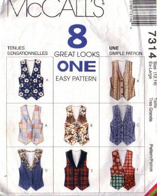 Free Online Vest Sewing Pattern | Women\'s Vest Patterns | ideas for ...