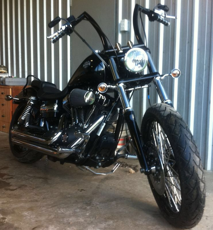 Dyna Wide Glide With Custom Apes Harley Bikes Harley Davidson Bikes Harley Dyna