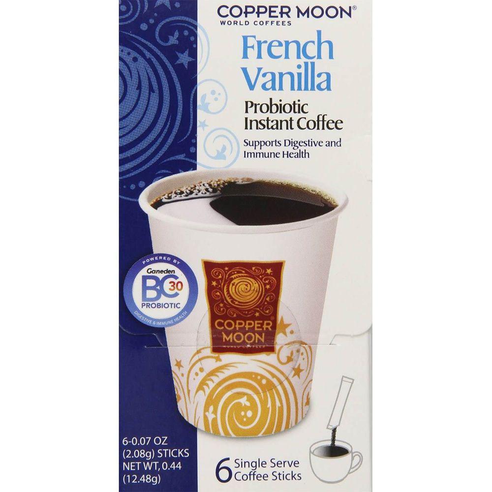 Copper moon french vanilla roast instant coffee singles