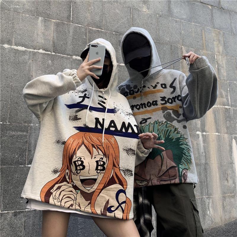 One piece anime couple sweatshirt yc22469 with images