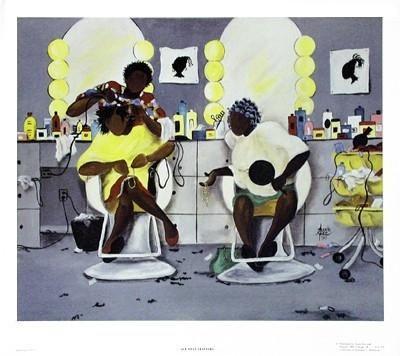 All That Glitters - 22x19 print - Annie Lee #africanamericanhair
