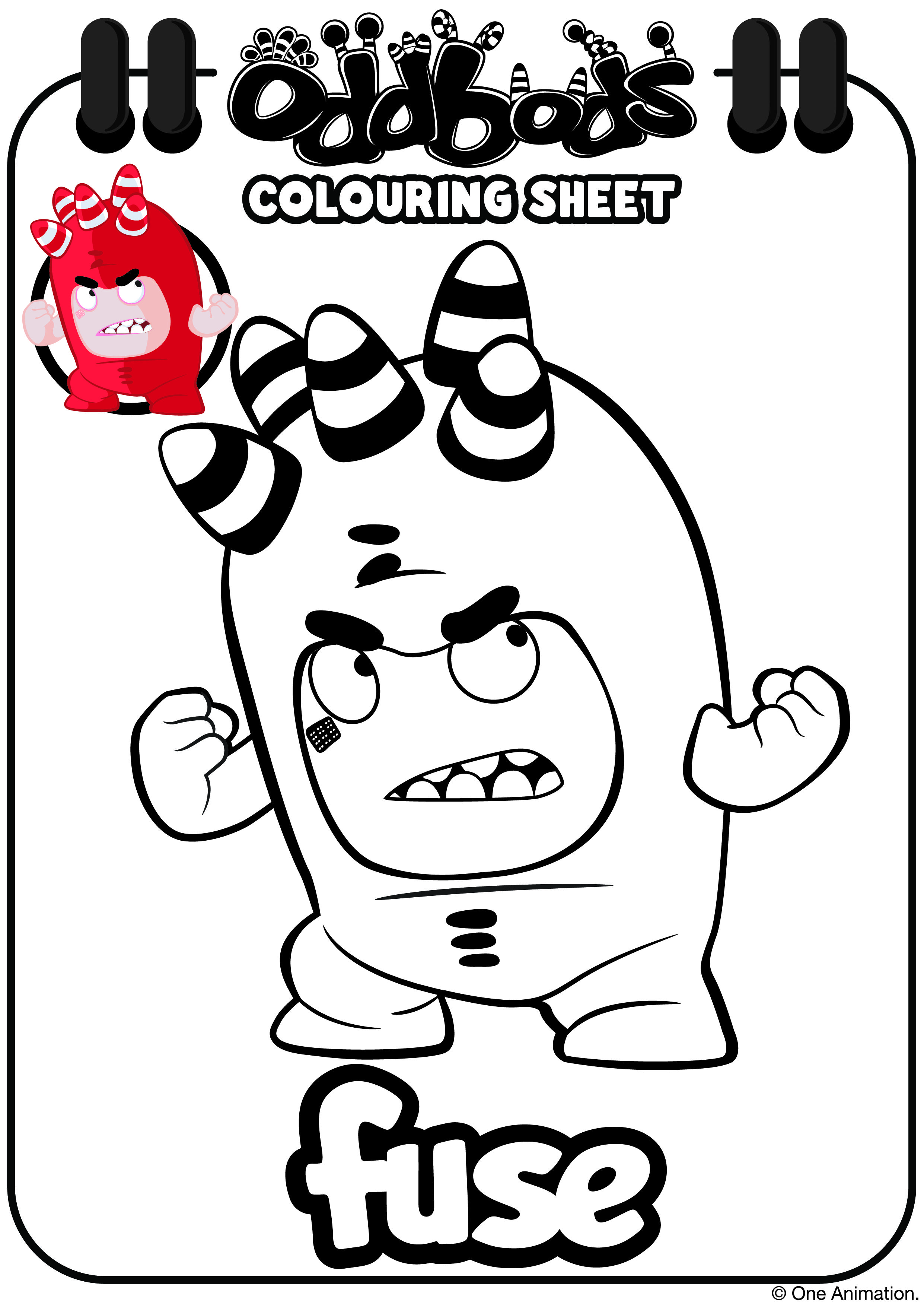 Oddbods Colouring Sheet Fuse Kids Coloring Books Coloring Books Coloring For Kids