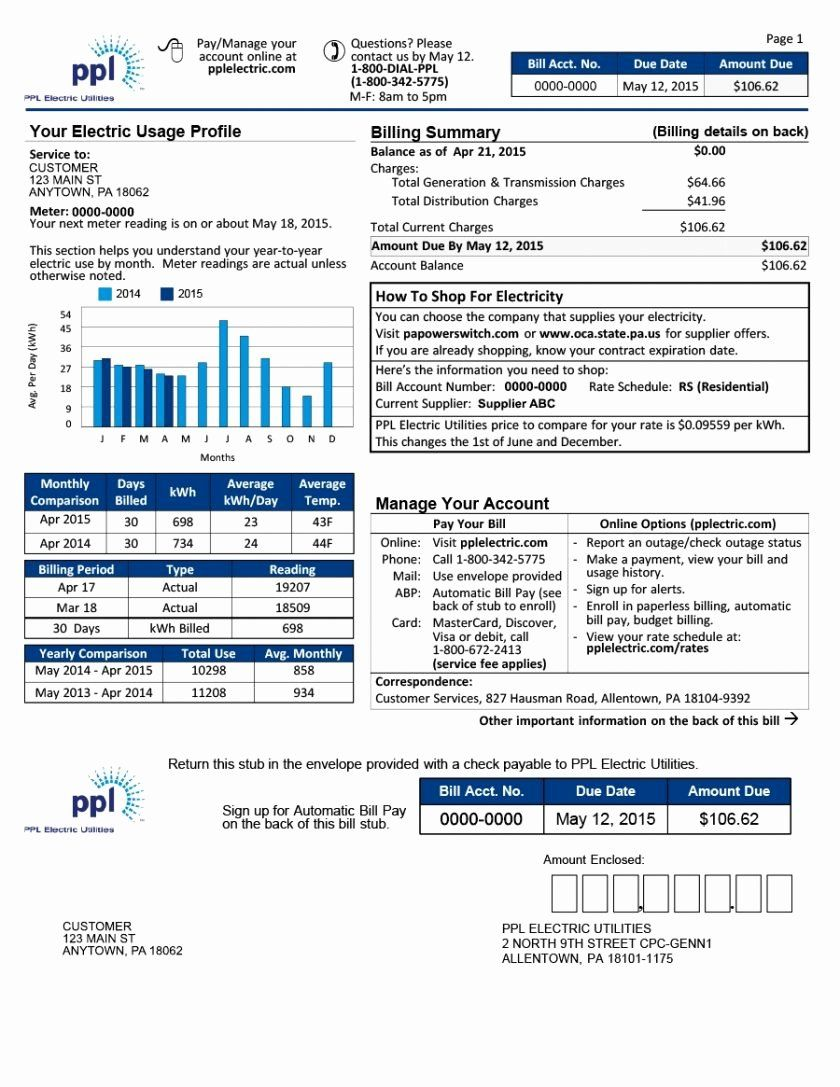 Fake Utility Bill Template Unique At T Phone Bill Utility Statement Gas Electric Peterainsworth Bill Template Utility Bill Templates
