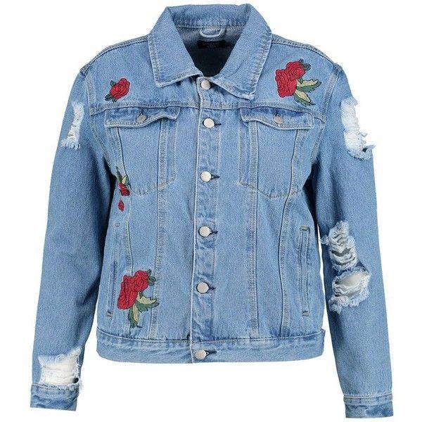 Ghope Damen Jeansjacke Jacke Jacket Mantel Hoodie Denim jean