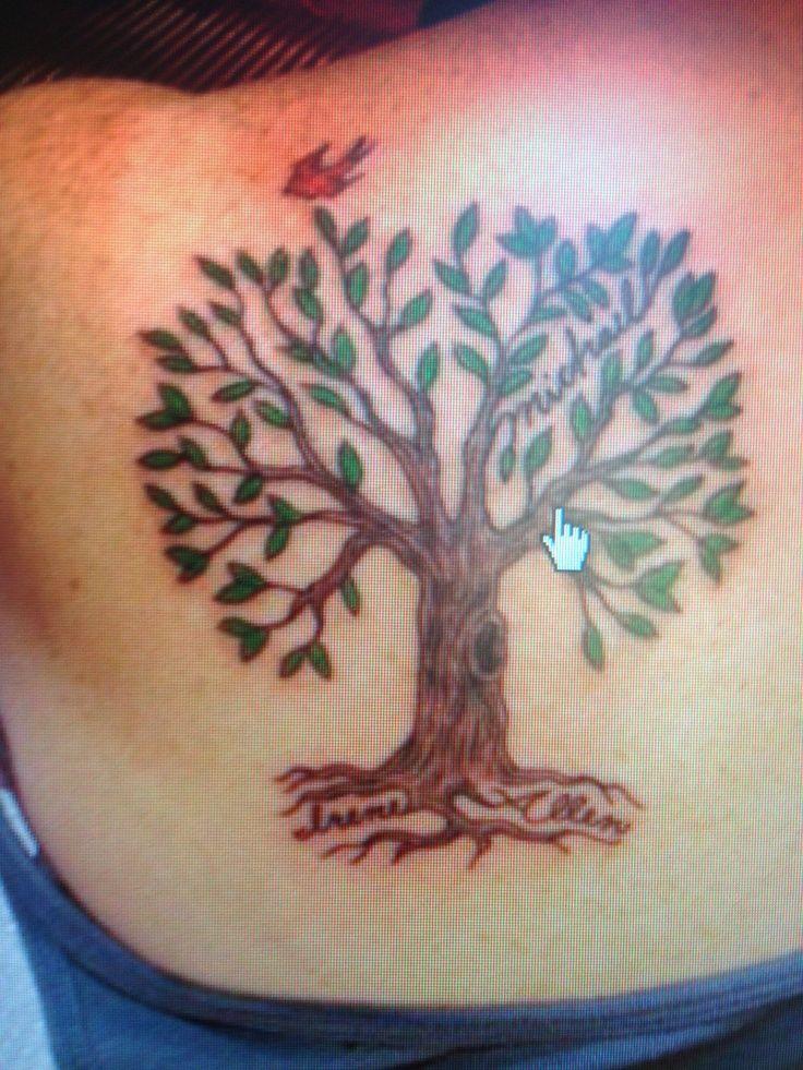 Tree tattoo names in the roots! Tree tattoo, Roots tattoo