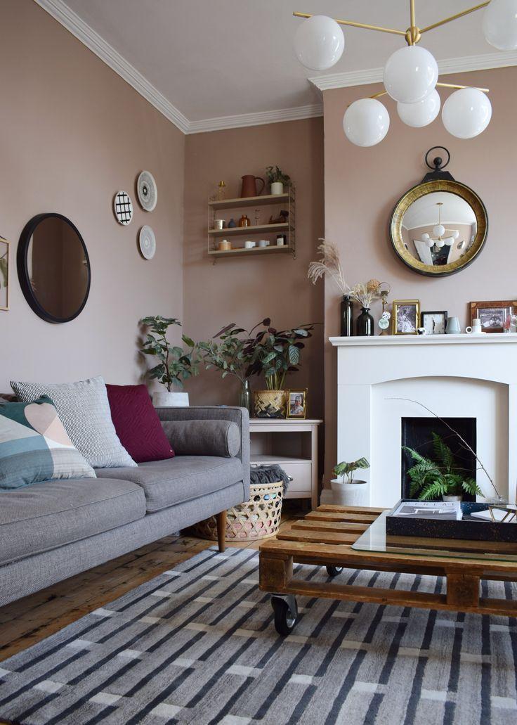 incredible west elm living room decorating inspiratio   Scandinavian Living Room makeover, muted pink, neutrals ...