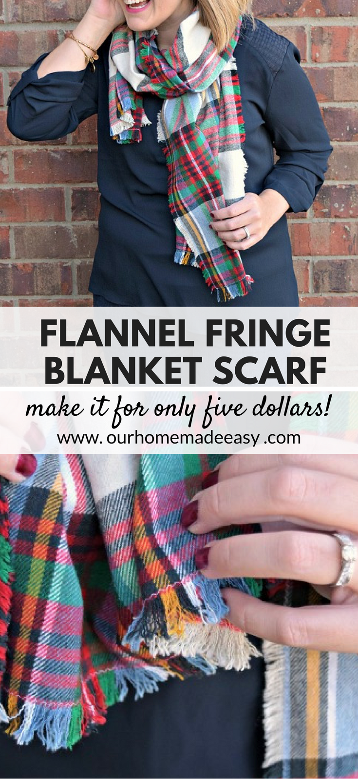 Make A 5 Blanket Flannel Scarf Sewing Scarves Flannel Scarves