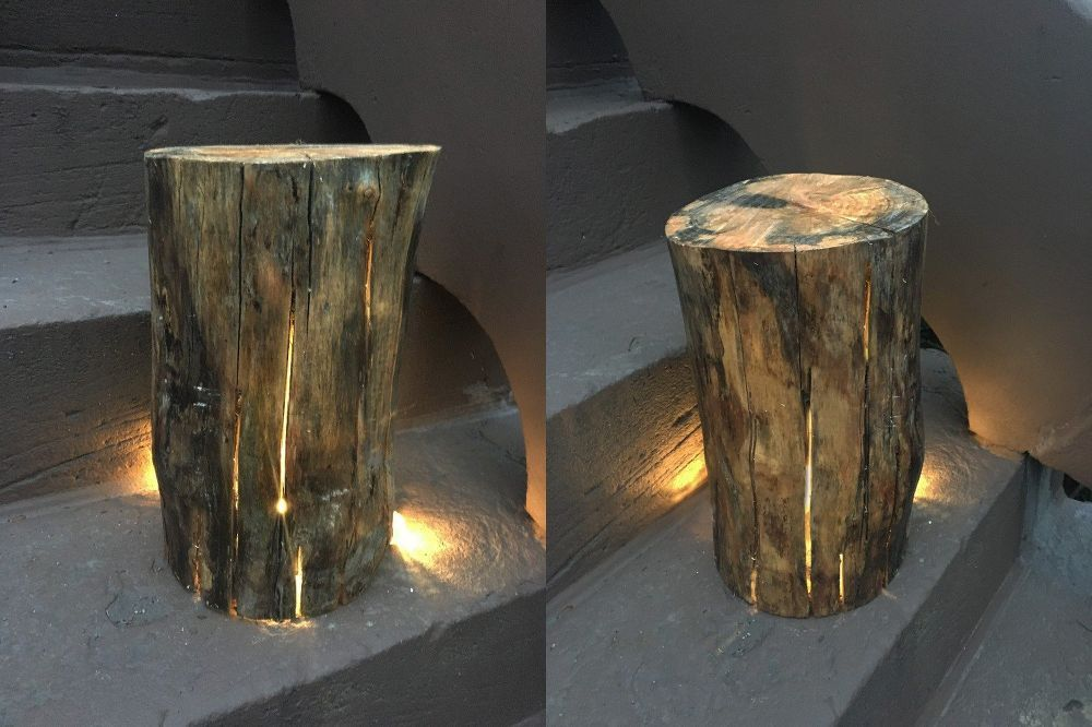 Light Up Logs Outdoor Lighting