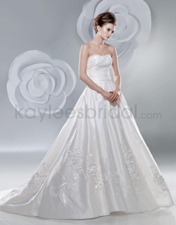 Taffeta Sweetheart Ruched Bodice Ball Gown Wedding Dress | Wedding ...