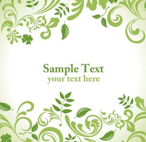 Free Clean Green Floral Pattern Vector Background Floral pattern - fresh invitation template vector