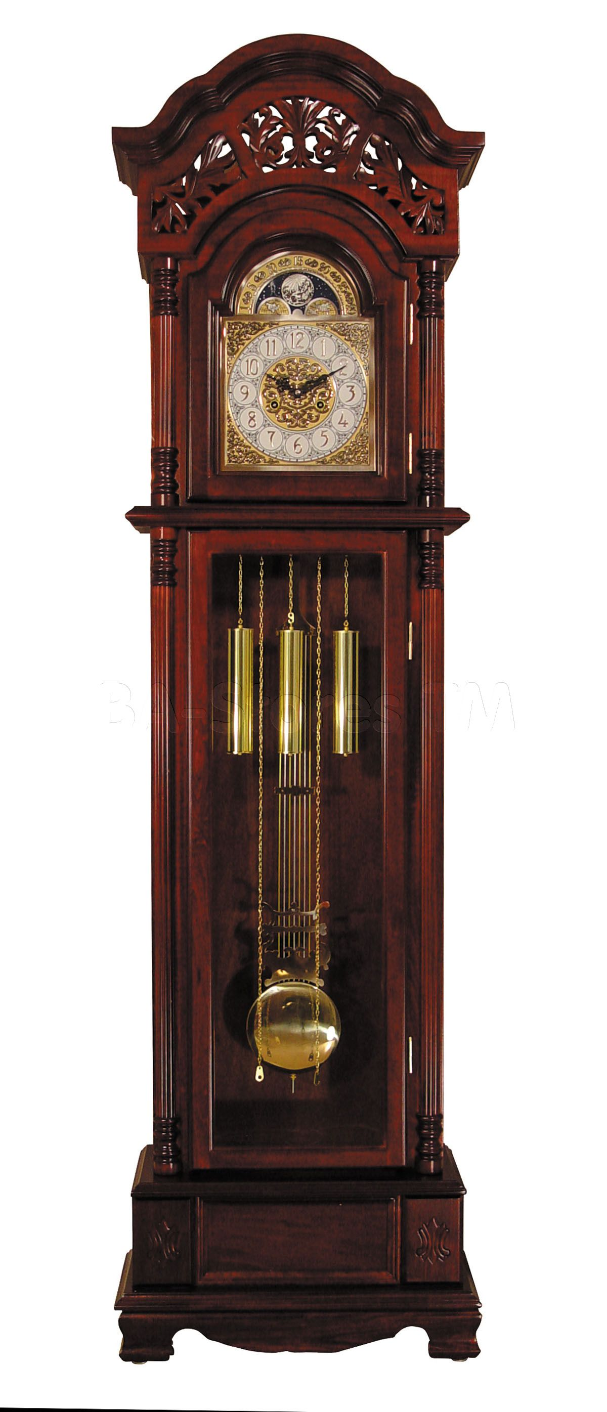 Marsha Traditional Pendulum Grandfather Clock In Cherry Clocks Af