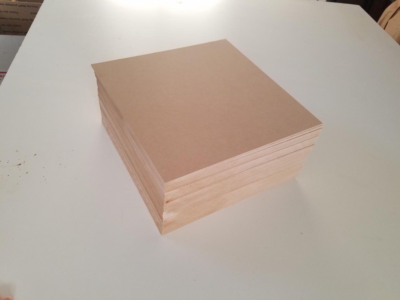 1 8 12x12 Mdf Sheets 48 Sheets Medium Density Fiberboard By Americanlasersupply On Etsy Laser Wood Wood She Etsy Craft Supplies Laser Engraving Fiberboard