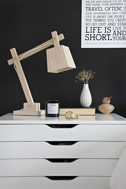 Stylizimo Blog   Bedrooms   Ikea Alex Drawer Unit On Casters   White,  Nightstand Vignette
