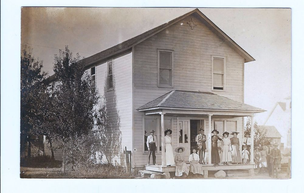 Real Photo Postcard Centerville Iowa Family On Farm Place in Collectibles, Postcards, US States, Cities & Towns | eBay