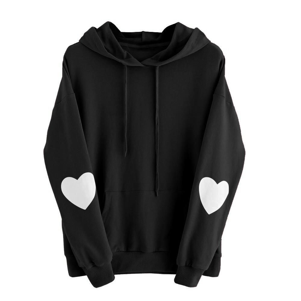 Best Sale Sweatshirt Women Long Sleeve Lovely Heart Hoodie Sweatshirt Jumper Hooded Pullover Tops Sudaderas Mujer 2017 Hoodies In 2021 Hoodies Womens Women Hoodies Sweatshirts Sweatshirts Women [ 1000 x 1000 Pixel ]