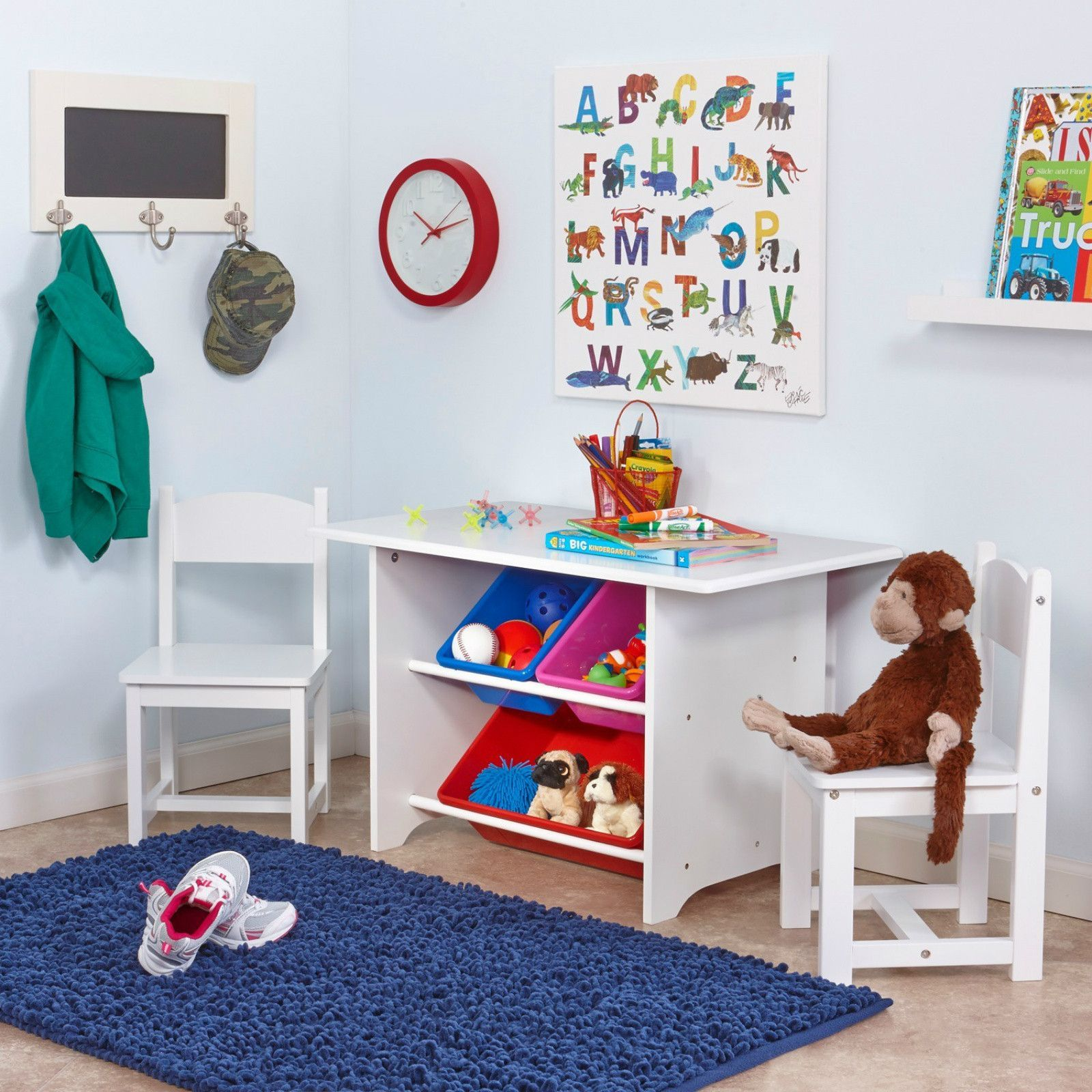 Kids study table and chair set childrens table kids