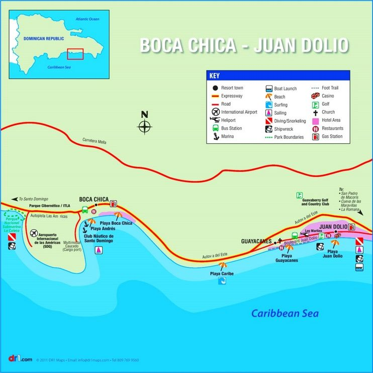 Boca Chica tourist map Maps Pinterest Boca chica Tourist map