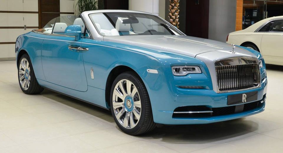 Anyone Feeling This Turquoise And Silver Rolls Royce Dawn Carscoops In 2020 Rolls Royce Dawn Rolls Royce White Rolls Royce