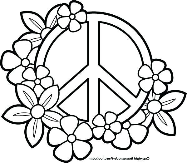 Heart Peace Sign Coloring Pages At Getcolorings Com Free Printable Heart Coloring Pages Coloring Pages For Teenagers Easy Coloring Pages