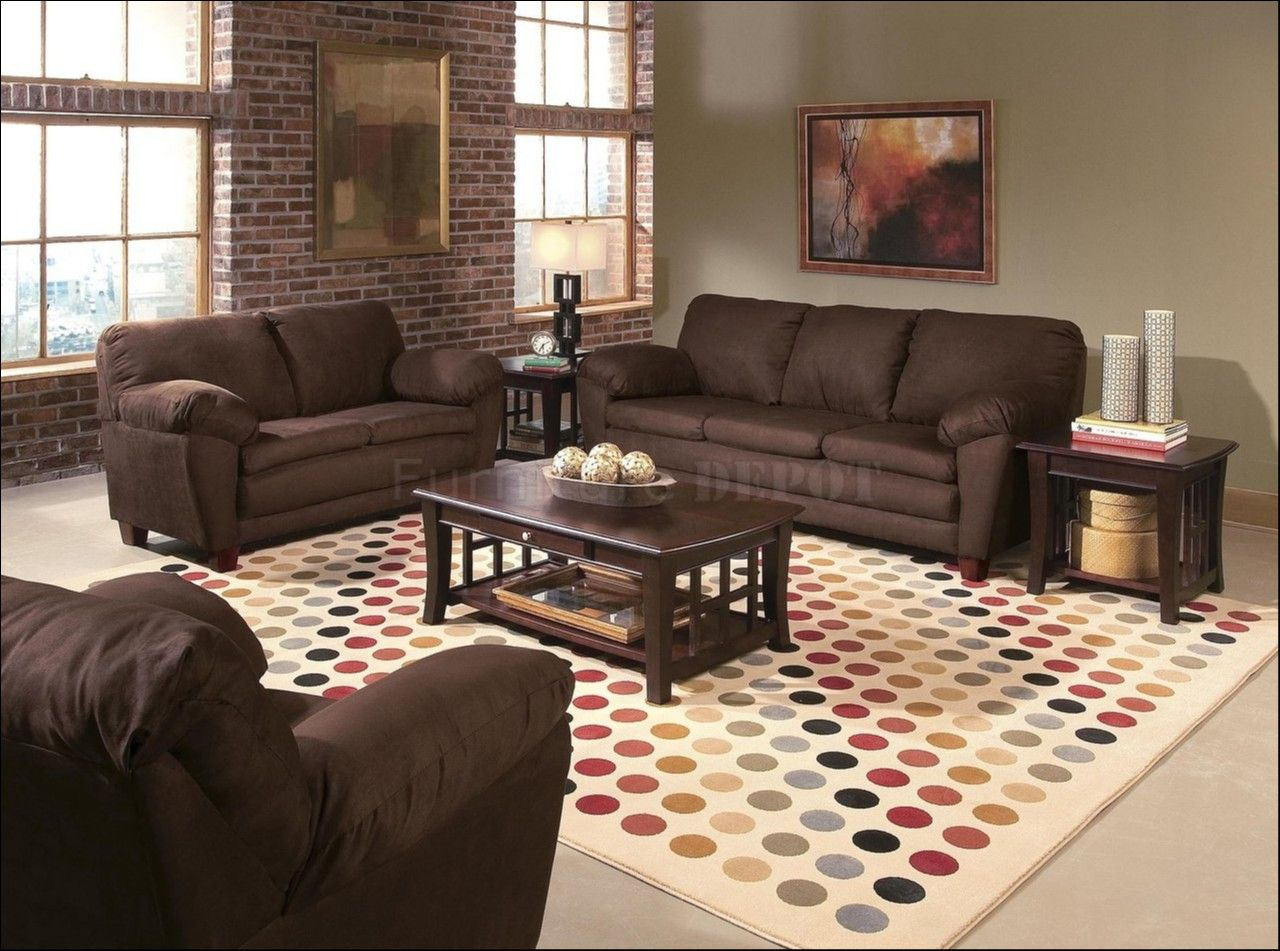 Living Room Accent Wall With Brown Furniture Beautiful Accent Wall Color With Brown Couch Brown Living Room Brown Living Room Decor Accent Walls In Living Room