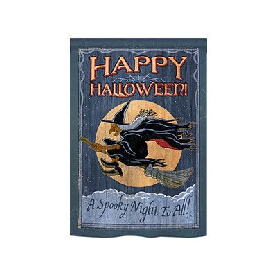 """TwoGroupFlagCo A Spooky Night to All 2-Sided Vertical Flag Size: 18.5"""" H x 13"""" W"""