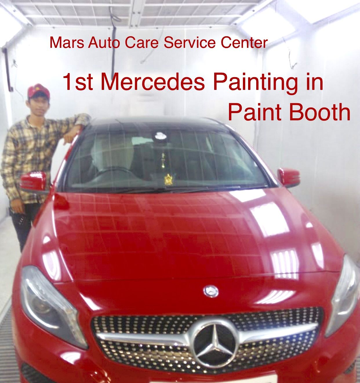 1st Mercedes Painting done in Advance Paint Booth MAC