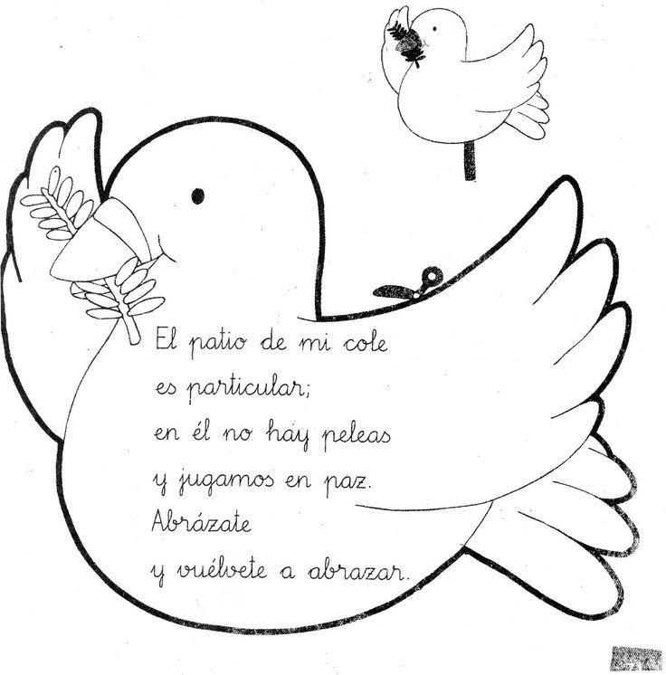 Manualidades Paloma De La Paz Buscar Con Google Paloma De La Paz Dia De La Paz Educacion Para La Paz