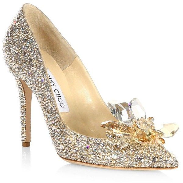 Jimmy Choo Crystal Suede Point Toe Pumps 50mm 4 595 Liked On