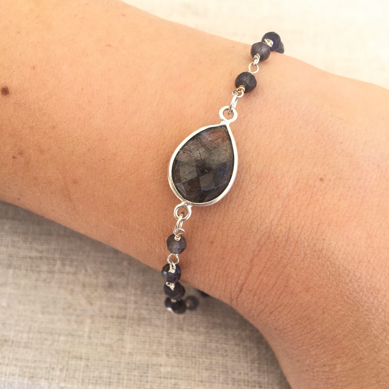 bracelet argent femme 925 pierre