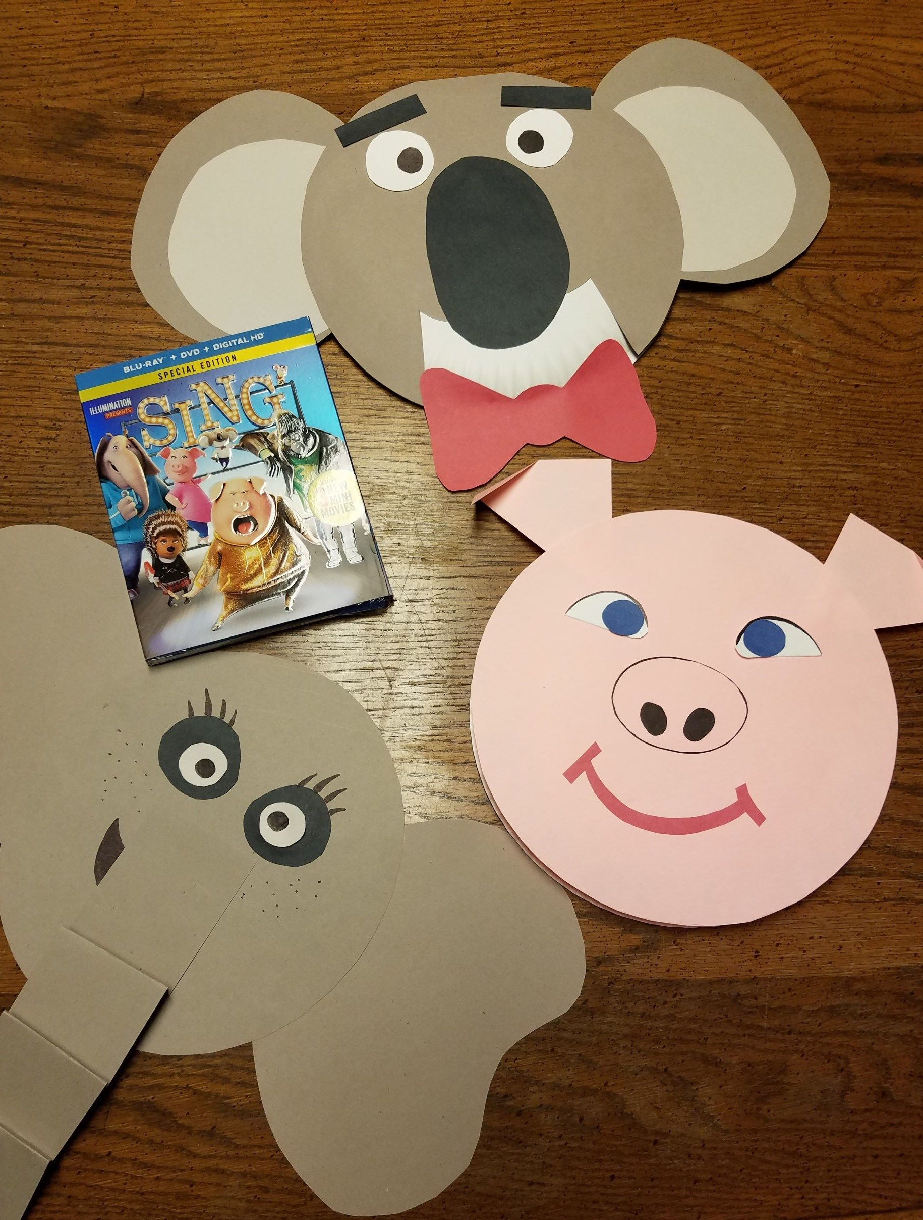Design Your Own Paper Plate Masks for SING Family Movie Night & Design Your Own Paper Plate Masks for SING Family Movie Night | Sing ...